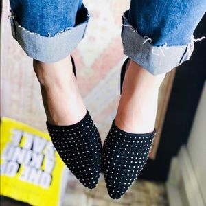 Shoes - Black studded mules pointed shoes